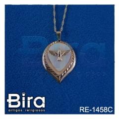 corrente medalha divino espirito santo madre perola