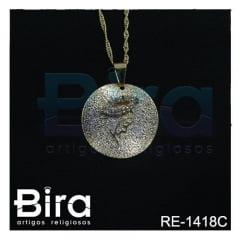 corrente medalha silencio diamantada