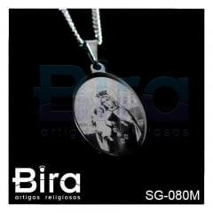 Corrente Inox Com Medalha N. Sra. do Carmo a Laser - Cód. SG-080M