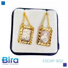 ESCAP-802 ESCAPULARIO CARMO/APDA DOURADO - Cód ESCAP-802