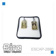 ESCAPULARIO FOLHEADO E INOX LASER VAZADO - CÓD. ESCAP-2890