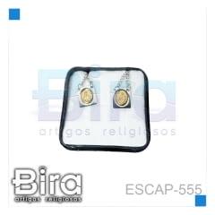 ESCAPULARIO INOX  ALTO RELEVO DOURADO - CÓD. ESCAP-555