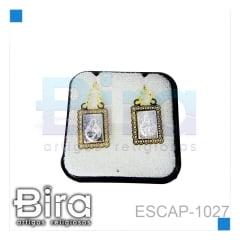 ESCAPULARIO INOX  BORDA OURO - CÓD. ESCAP-1027