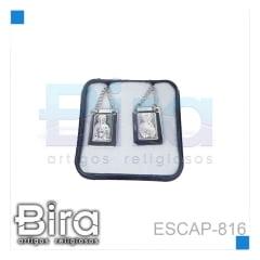 ESCAPULARIO INOX CARMO MEIO PRATA - CÓD. ESCAP-816