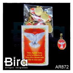 Pacote Com Medalhas Resinada Santos Sortidos - 25 Und. - Cód. AR872
