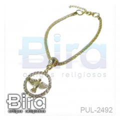 pulseira, folheada, divino, espirito santo