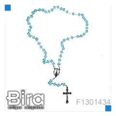 Bira Artigos Religiosos -  TERÇO CRISTAL NSA CORES VARIADAS - CÓD. F1301434
