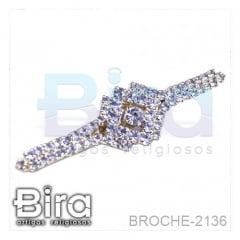 Broche Com Strass - 4.3cm - Cód. BROCHE-2136