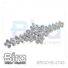Broche Com Strass - 6cm - Cód. BROCHE-2140