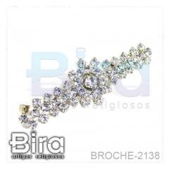 Broche Detalhado em Strass - 4cm - Cód. BROCHE-2138