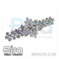 Broche Todo Com Strass - 4cm - Cód. BROCHE-2139