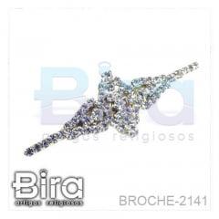 Broche Trabalhado Com Strass - 5.5cm - Cód. BROCHE-2141