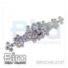 Broche Trabalhado Com Strass - 5cm - Cód. BROCHE-2137
