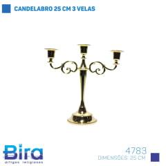 CANDELABRO 25 CM 3 VELAS COD.4783