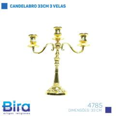 Bira Artigos Religiosos - CANDELABRO 33CM 3 VELAS COD. 4785