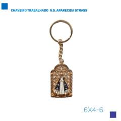 CHAVEIRO TRABALHADO  N.S. APARECIDA STRASS - Cód. 6X4-6