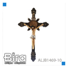 CRUCIFIXO DE RESINA  25,4 CM - CÓD. ALJB1469-10