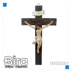 Bira Artigos Religiosos - CRUCIFIXO DE RESINA 25 CM  COD. IM50041