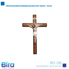 crucifixo madeira resinado parede