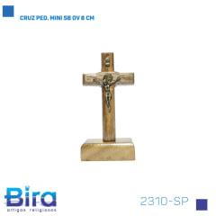 Bira Artigos Religiosos - CRUZ PED. MINI SB OV 8 CM Cód. 2310-SP