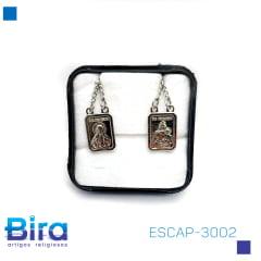 Escapulário   INOX  PINGENTE  NOSSA SENHORA  DO CARMO ALTO RELEVO COD:ESCAP-3002