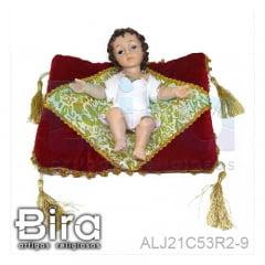 MENINO JESUS C/ ALMOFADA - 21 CM - CÓD. ALJ21C53R2-9