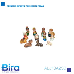 Presépio Infantil 12 Peças - 7cm - Cód. ALJ10A250