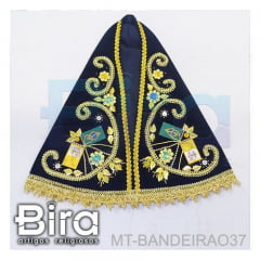 Manto Bordado Para Fac-símile N. Sra. Aparecida - 37cm - Cód. MT-BANDEIRAO37