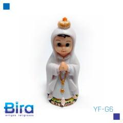 N. Sra. de Fátima Emborrachada Infantil - 8cm - Cód. YF-G6