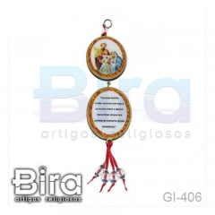 Adorno Oval 2 Peças Sagrada Família - Cód. GI-406