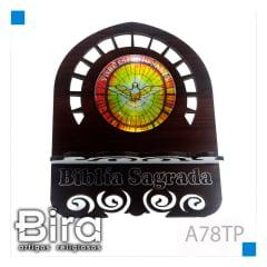 Bira Artigos Religiosos - PORTA BIBLIA RESINADO TABACO P 15 CM - A78TP