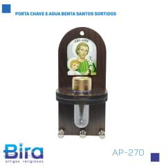 Bira Artigos Religiosos - PORTA CHAVE E AGUA BENTA SANTOS SORTIDOS - Cód. AP-270