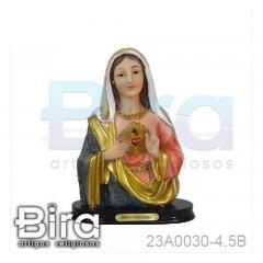 Busto Sagrado Coração de Maria - 11cm - Cód. 23A0030-4.5B