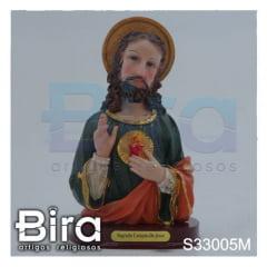Busto Sagrado Coração de Jesus - 18cm - Cód. S33005M