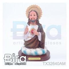 Busto Sagrado Coração de Jesus - 22cm - Cód. TX32640AM