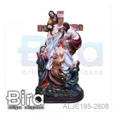 Cristo Sendo Retirado da Cruz em resina - 33cm - Cód. ALJE195-2808