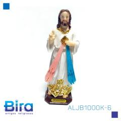 Bira Artigos Religiosos - JESUS MISERICORDIOSO  DE RESINA DE 15 CM - CÓD. ALJB1000K-6