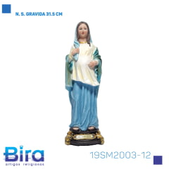 Bira Artigos Religiosos - N. S. GRAVIDA 31.5 CM Cód. 19SM2003-12