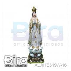 Bira Artigos Religiosos - N SRA DE FÁTIMA DOURADA 40CM - CÓD. ALJ01B319W-16
