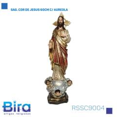 Bira Artigos Religiosos - SAG. COR DE JESUS 60CM C/ AUREOLA Cód. RSSC9004