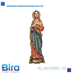 Bira Artigos Religiosos - SAGRADO CORACAO DE MARIA 30.5 CM Cód. ALJB1428C-12