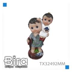 Bira Artigos Religiosos - SAO CRISTOVAO  INFANTIL 10 CM MD NV - CÓD. TX32492MM