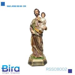 SÃO JOSÉ  EM RESINA 60CM - CÓD. RSSO8002