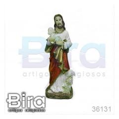 Imagem Bom Pastor em Resina - 11cm - Cód. 36131