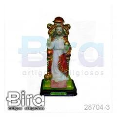 Imagem Cristo Rei em Resina - 15cm - Cód. 28704-3