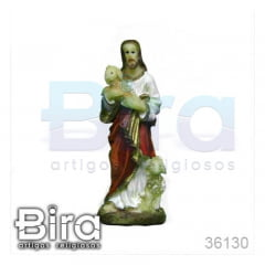 Imagem Bom Pastor em Resina - 8cm - Cód. 36130