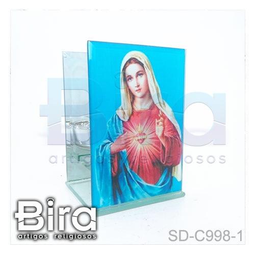 castical vidro sagrado coracao maria
